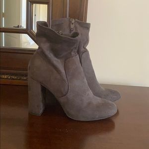 Grey suede booties size 7.5